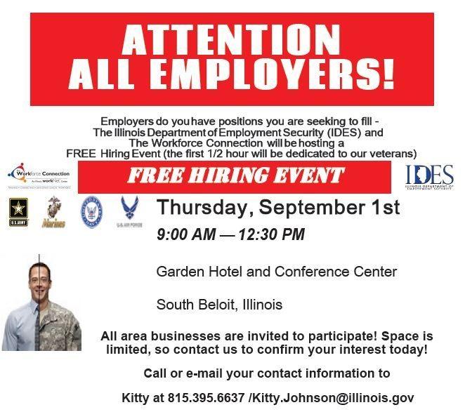 south beloit hiring event